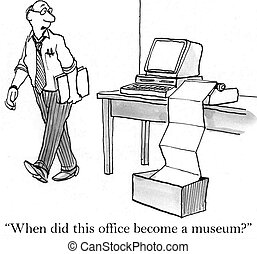 """Executive is concerned by old computer printer - """"When did..."""