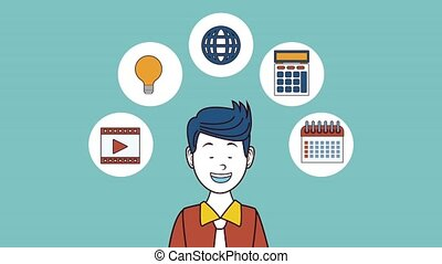 Executive marketing worker HD animation - Executive worker...