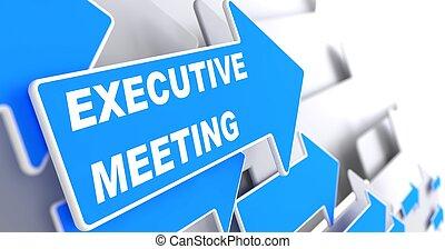 Executive Meeting on Blue Arrow. - Executive Meeting. Blue...