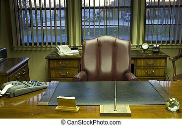 Executive office - Office desk and furniture in executive...