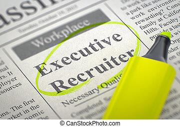 Executive Recruiter Wanted. 3D.