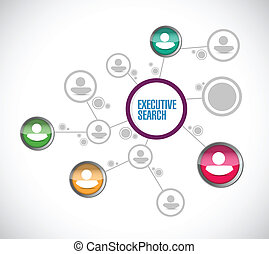 executive search network illustration design