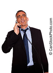 Executive speaking on phone