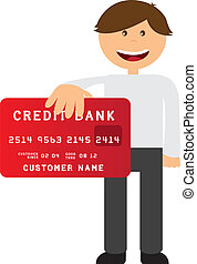 executive with credit card