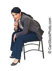 Executive woman sitting on chair