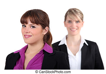 executive., zwei, weibliche
