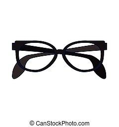 executivo, isolado, óculos