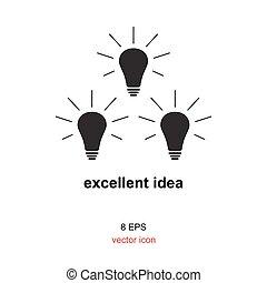 Exellent idea lamp icon