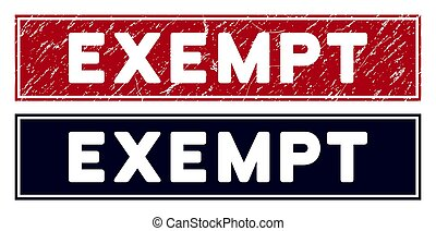 exempt, rectangulaire, watermark, grunge