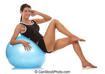exercício abdominal