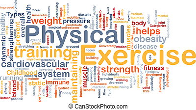 exercício físico, fundo, conceito