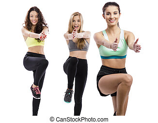 exercício grupo, classes
