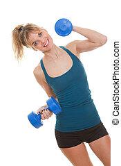 exercício, mulher