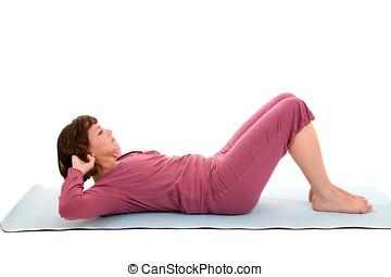 exercícios, abdominal