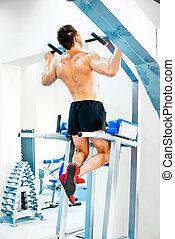 exercícios, bodybuilder
