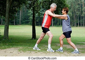 exercícios, executando, 2, -