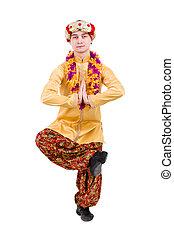 exercícios, homem ioga