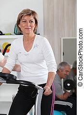 exercícios, lar, par, sênior