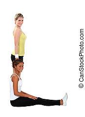 exercícios, mulheres