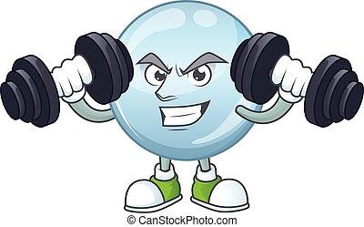 exercice, caractère, fitness, gouttelettes, utilisation, ...