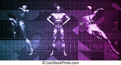 exercice, et, physique, sports