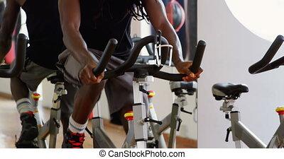 exercice, exercisme, boxeur, vélo, 4k, mâle