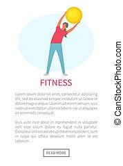 exercice, flexibilité, élaboration, fitness, femme