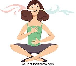 exercice, respiration