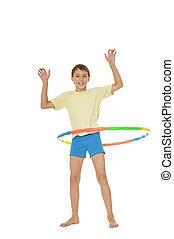 exercices, garçon, jeune