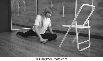 exercices, girl, yoga, exécute