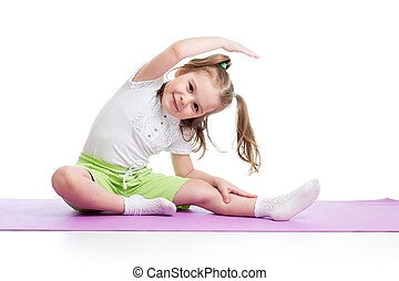 exercices, gosse, fitness
