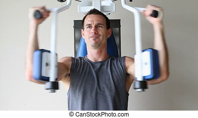 exercices, poitrine, homme