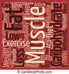 Exercise and Low Carb Diet s Make Poor Partners text background word cloud concept