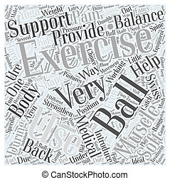 Exercise Balls Word Cloud Concept