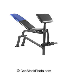 Exercise bench isolated