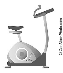 Exercise bike in metallic color corpus isolated illustration...