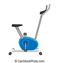 Exercise bike or orbitrek vector isolated on white. Sport equipment