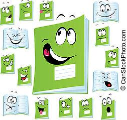 exercise book cartoon