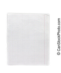 Exercise book in a cage