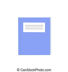 exercise books over the white background vector,...