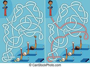 Exercise class maze