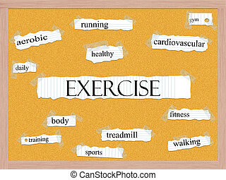 Exercise Corkboard Word Concept