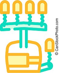 exercise equipment for hand rehabilitation and physiotherapy color icon vector illustration