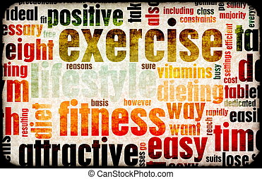 Exercise Fitness Lifestyle as a Background Art