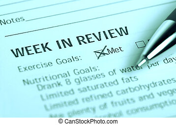 Exercise goals - Exercise planner indicating status of ...