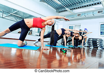 exercise - Group of young women in the gym centre.