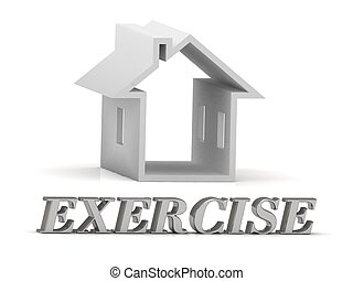 EXERCISE- inscription of silver letters and white house on...