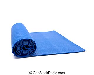 Exercise Mat - An exercise mat isolated against a white ...