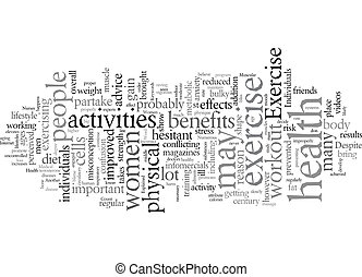 Exercise Myths Explained text background wordcloud concept