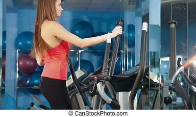 Exercise On Cross Trainer At The Gy